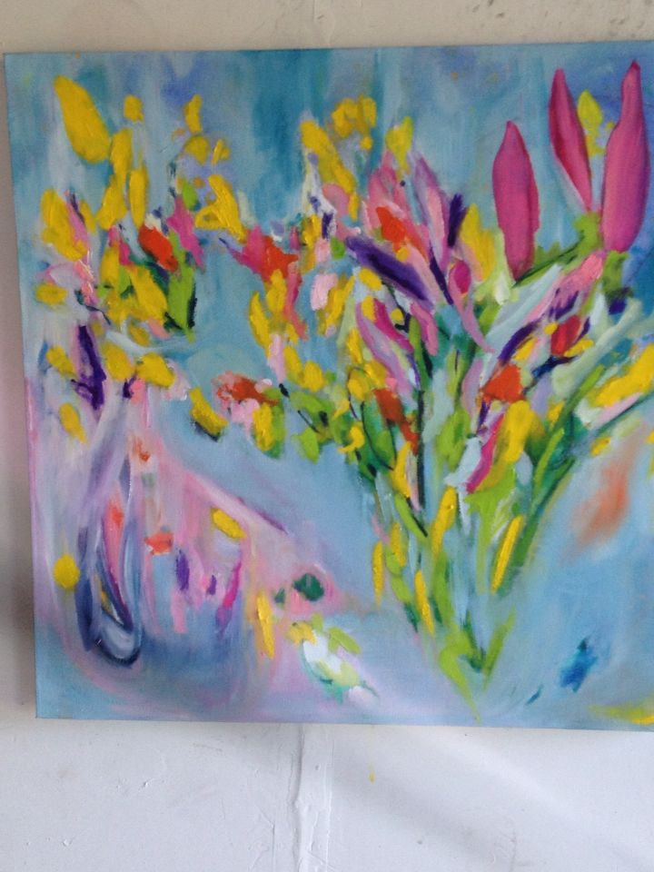 """SpringBurst"" Oil on Canvas Geraldine Gillingham"