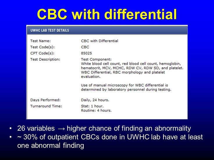 Image Result For Cbc With Differential Vs Cbc