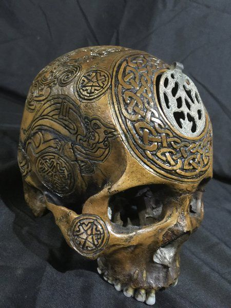 The Odin Seer Real Human Skull Carved By Zane Wylie