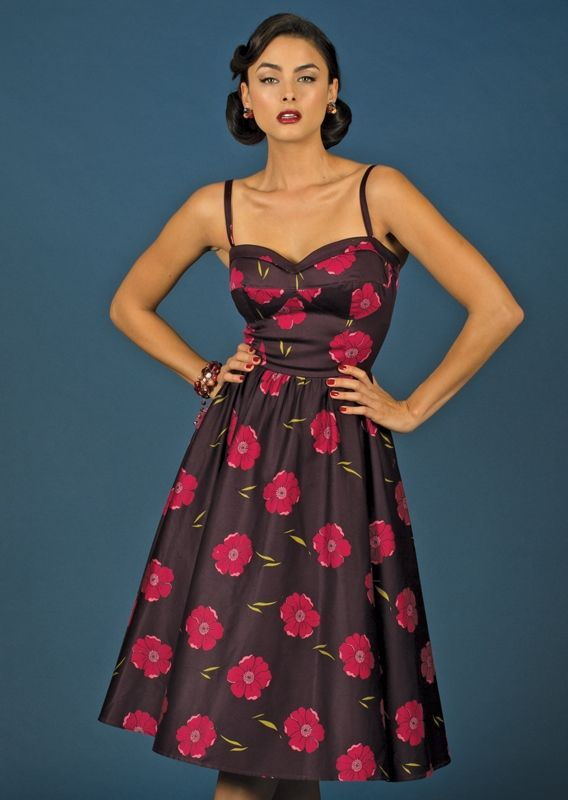 Vital 40s Dress Havana Nights Dress Dresses Cuba Fashion