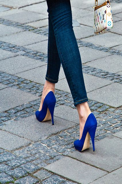 Electric Blue sandals