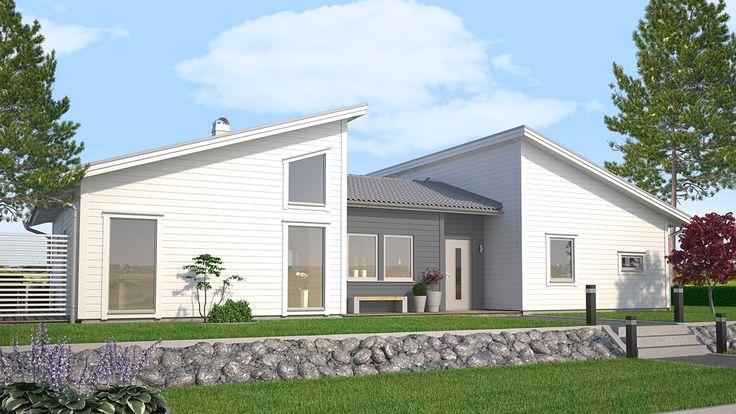 Villa Vinga - Spännande lösningar med kul vinklar och vrår som gör att huset välkomnar ljuset.