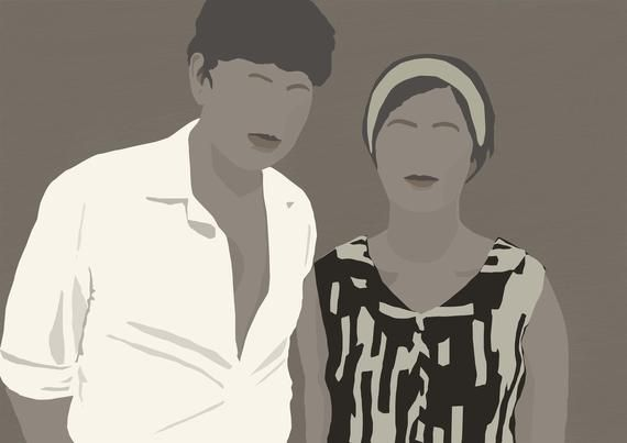 Faceless Portrait Minimalist Printable Wall Art Cutest Gift Ever