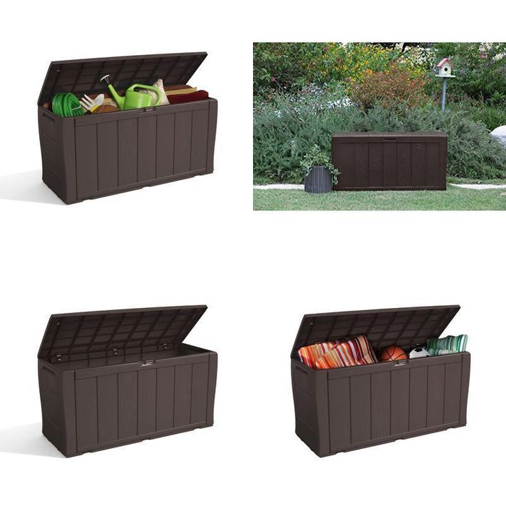 Garden Storage Box Chest Patio Large Weather Waterproof All Purpose Outside Shed