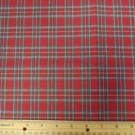 Tartan Polyester Cotton Fabric