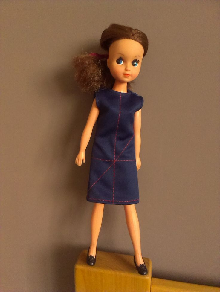 Navy dress for Fleur (my own pattern). More at:  szycienocne@blogspot.com