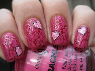 Valentine's day- crackle/hearts... I don't usually like crackle at all, but this is cute.