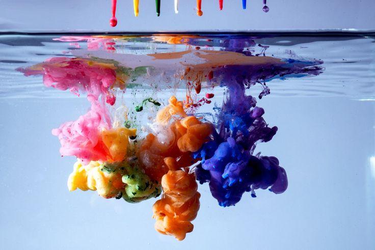 Ink diffusing in #water Inchiostri nell' #acqua