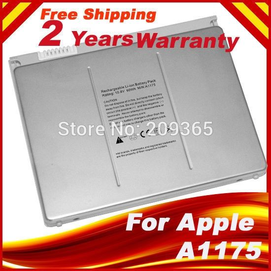 """Laptop battery For Apple MacBook Pro 15"""" A1150 A1260 MA463 A1226 A1211 MA601 MA600 MA609 MA610 MA348G/A MA348J/A A1175 MA348"""