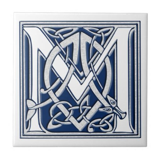 pictures of celtic monograms m | Celtic M Monogram Ceramic Tile from Zazzle.com