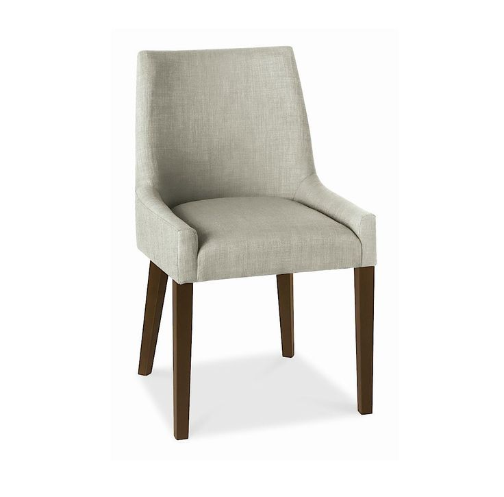 Alex Linen Upholstered Dining Chair With Walnut Legs