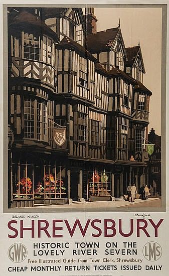 Shrewsbury, historic town on the lovely river Severn - GWR - (Claude Buckle) -