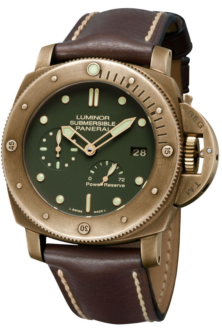 Officine Panerai Luminor Submersible 1950 3 Days Power Reserve Automatic Bronzo.