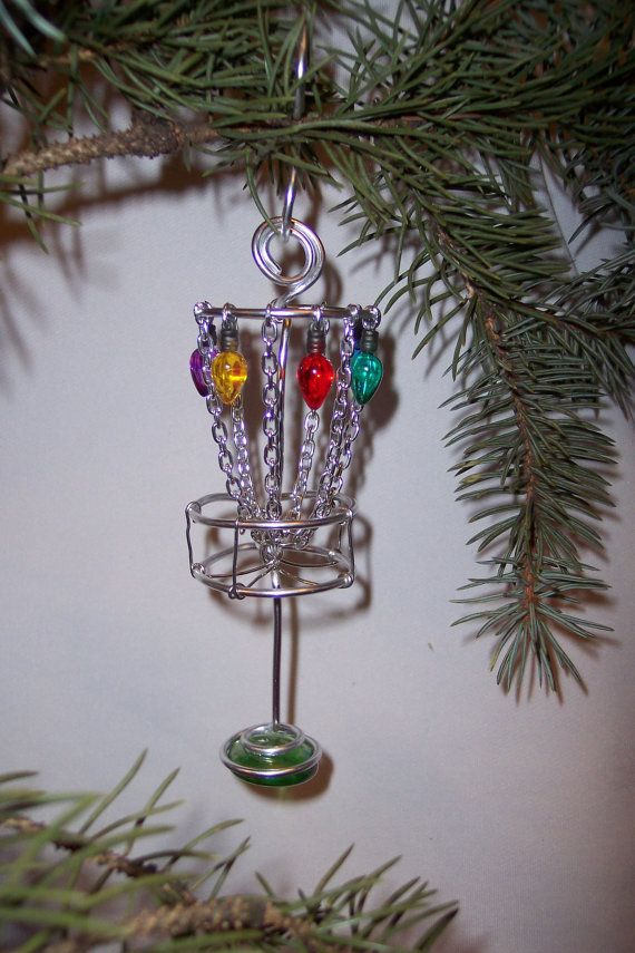 Disc Golf Basket Ornamental    Deck the Chains by jenkuehle, $9.99
