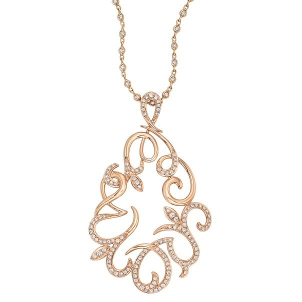 Chad Allison Rose Gold and Diamond Pendant Necklace!
