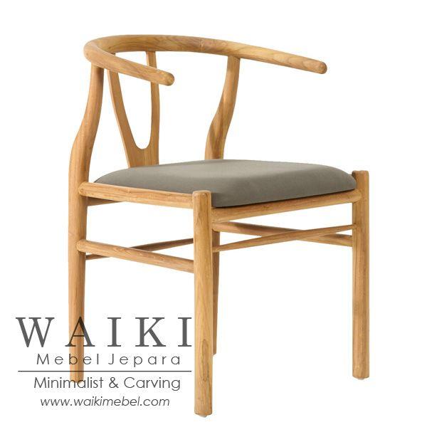 Model Kursi Tika untuk keperluan cafe, restoran berkelas ekspor. Kursi Tika model retro scandinavia dengan finishing warna kayu teak oil.