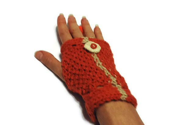 Check out this item in my Etsy shop https://www.etsy.com/ca/listing/175591803/orange-knit-gloves-woman-hand-warmers