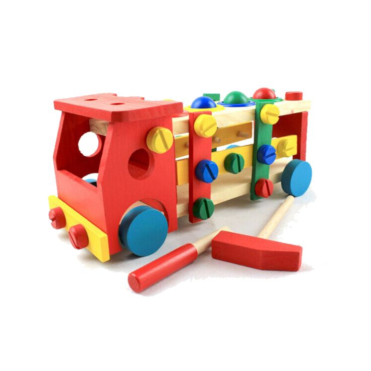 Colorful Educational Wooden Truck for Children (2yrs to 4yrs)