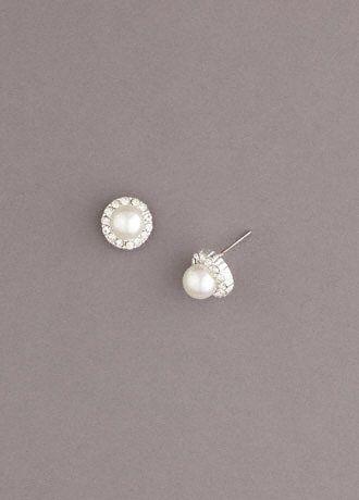 A cheaper version of the earrings at Zales. $10 at David's Bridal.