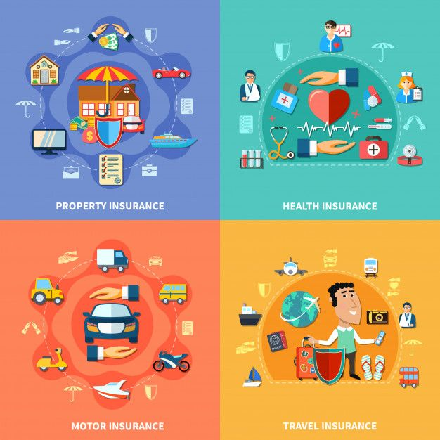Download Colorful Insurance Flat Concept For Free ในป 2020
