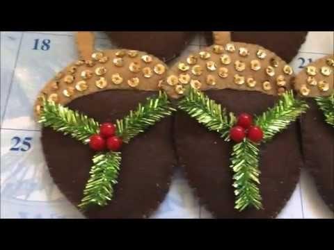 Manualidades Navideñas de decoracion para el arbol de nuez