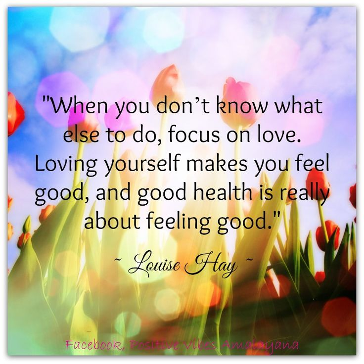 """""""When you don't know what else to do, focus on love ..."""