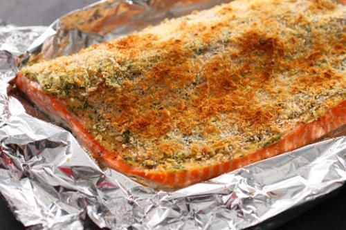 Basic Baked Breaded Salmon Recipe