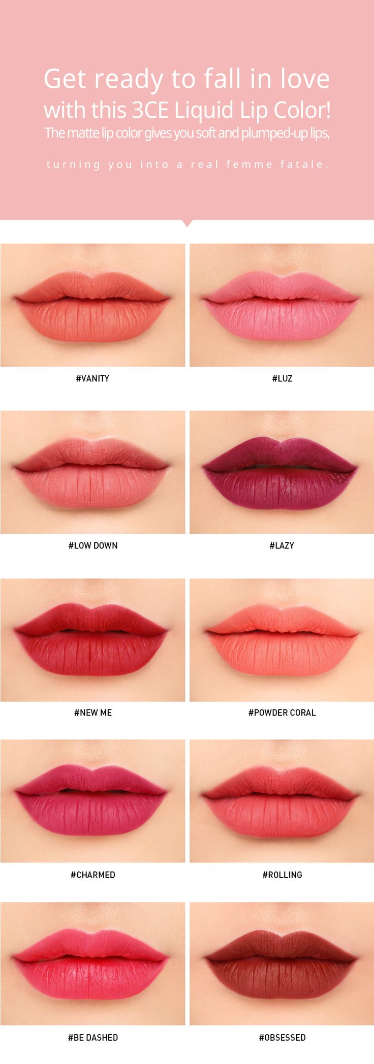 3Ce Liquid Lip Color Obsessed  Stylenanda  Beauty Eyes -9239