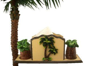 TROPICAL PALM TREE NAPKIN HOLDER, SALT AND PEPPER SHAKE By KMC. $24.99.  Fired To A High Gloss To Give It That Perfect Finish Look.