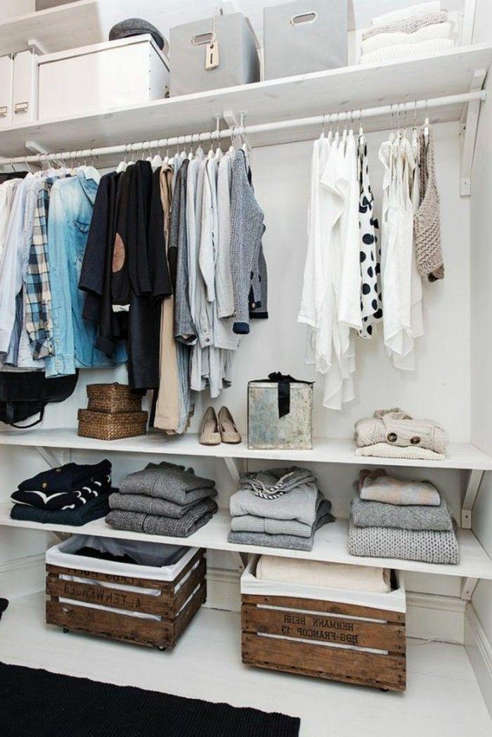 begehbarer kleiderschrank einfach gestalten holzkasten. Black Bedroom Furniture Sets. Home Design Ideas