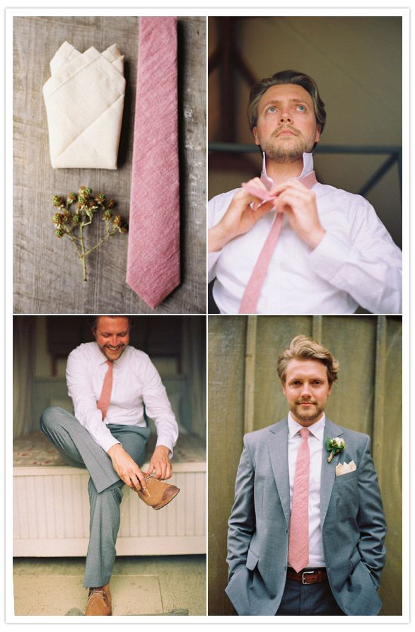 Gray Suite w/Pink (or in our case Coral) tie? I like the pattern, but will B go for it??