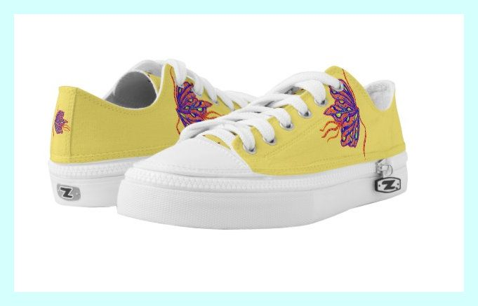 Butterfly Mabelle Art Design on Low-Top Sneaker. Check out this great item at https://www.zazzle.com/butterfly_mabelle_low_top_sneakers-256029117734999050
