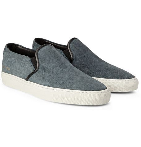 Common ProjectsWaxed Suede Slip-On Sneakers