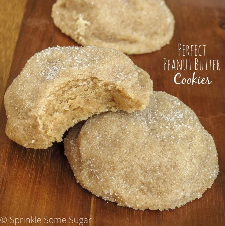 Perfect Peanut Butter Cookies - Sprinkle Some Sugar