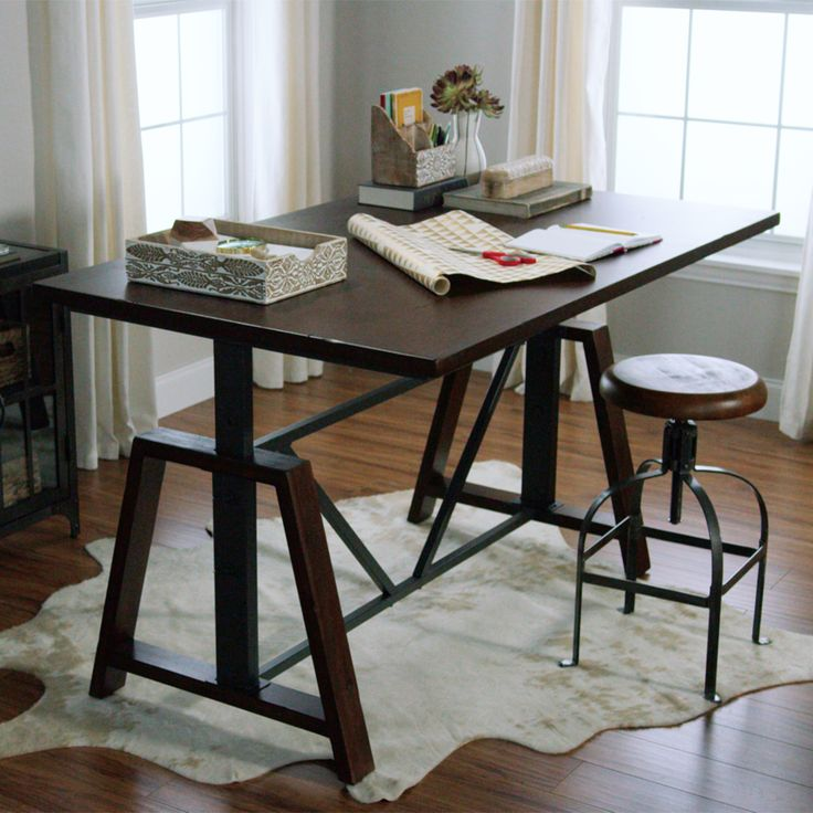 ... counter-level table, or set it at the highest height for a bar table