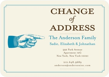 13 best address change cards images on pinterest change of address love the use of change of address on this creative moving announcement colourmoves
