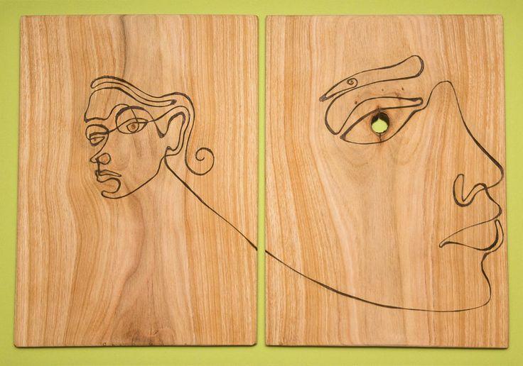 unește punctele sau urmarește linia lemnului