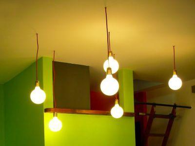 illuminazione a soffitto.