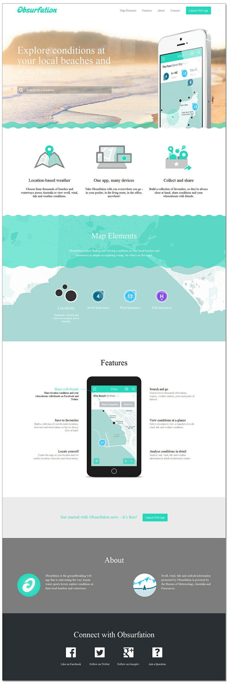 Great design for Promoting an App http://obsurfation.com/