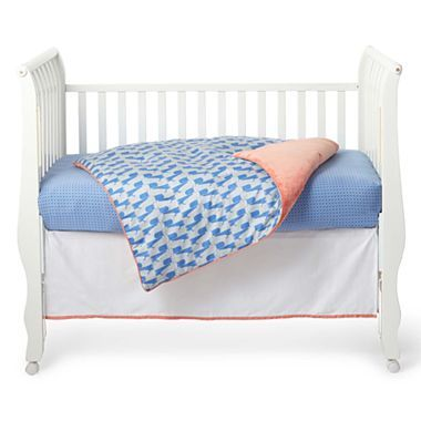 Gigglebaby™ blue jungle parade 3 pc baby bedding @jcpenney