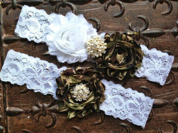 Camo Wedding Garter Set Camo Wedding Garter By TheRaggedDiamond