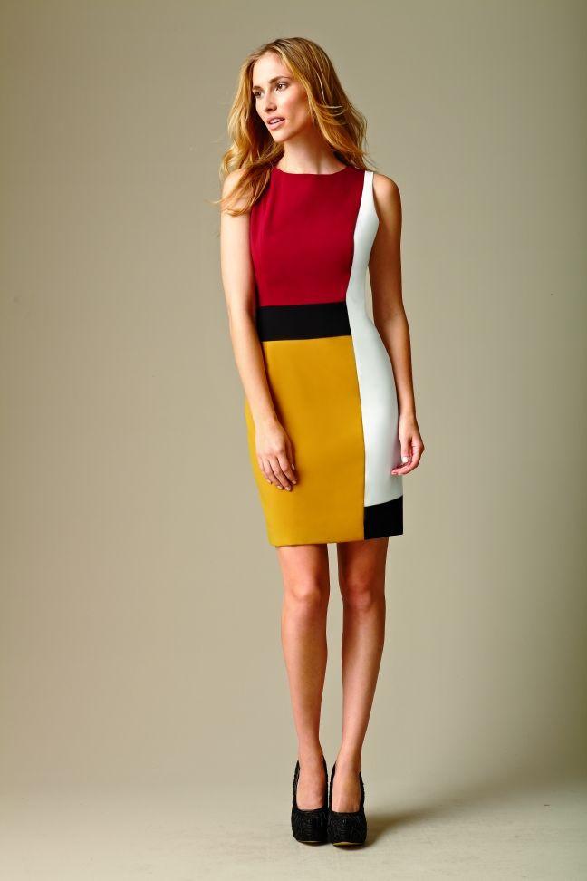 Calvin Klein Colorblocked Sheath Dress #calvinklein