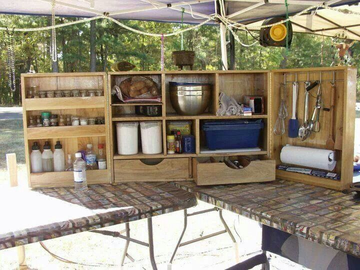 1000 images about campmaking on pinterest for Best camping kitchen ideas