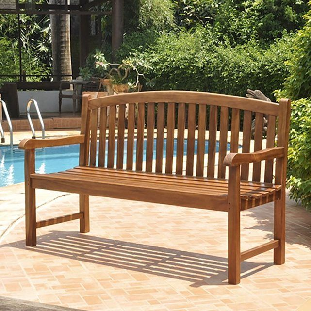 Banc en bois de teck huilé - Banc de jardin 150 cm