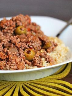 This is a traditional Latin beef dish usually served over rice, and it is bursting with flavor! Try this Skinny Beef Picadillo!
