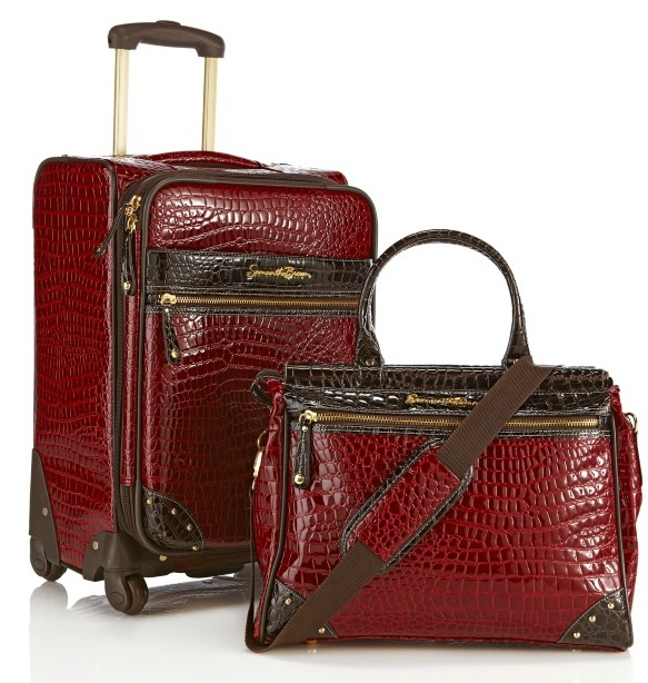 """I saw this on HSN the other day . . . luggage designed by Samantha Brown. Not the """"prettiest"""" luggage in the universe, but perhaps the most well-designed."""