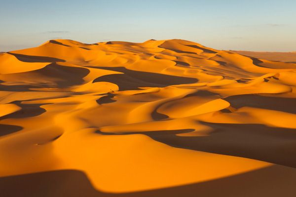 This is the Sahara Desert. It is the largest HOT desert in the world and is located in Northern Africa. It is roughly 3.6 million square miles!  It is very hard to live in the Sahara, but believe me, some people do live there. They are called Nomads, and their lives depend on trading the goods they find in the Sahara.