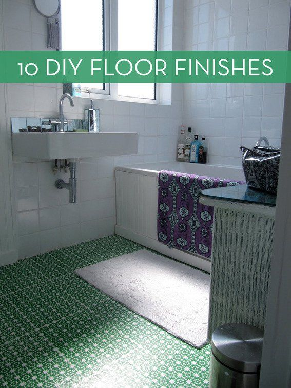 10 easy and inexpensive diy floor finishes posts diy for Inexpensive flooring solutions