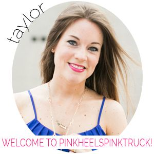 Taylor at Pink Heels Pink Truck. GREAT blogging series.