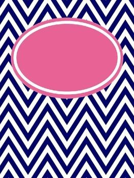 FREE chevron binder cover templates